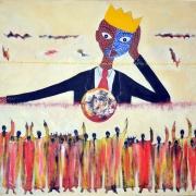 abraham abga: la chute des rois, 100x100cm